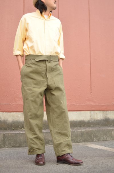 画像2: 40-50's French Military M-35 motor cycle pants -deadstock-