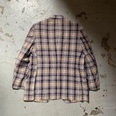 画像12: 60's-70's madras check tailored jacket  (12)