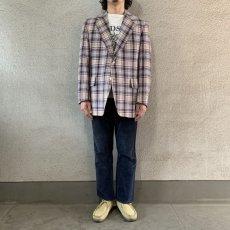 画像4: 60's-70's madras check tailored jacket  (4)