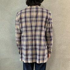 画像3: 60's-70's madras check tailored jacket  (3)
