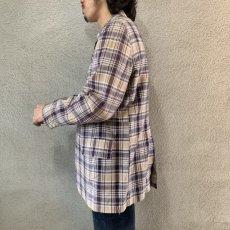 画像2: 60's-70's madras check tailored jacket  (2)