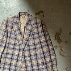 画像7: 60's-70's madras check tailored jacket  (7)