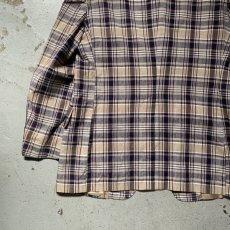 画像14: 60's-70's madras check tailored jacket  (14)