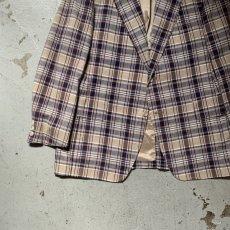 画像6: 60's-70's madras check tailored jacket  (6)