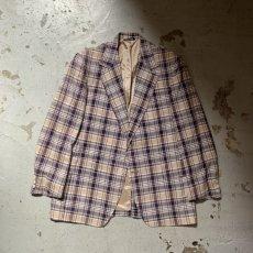 画像5: 60's-70's madras check tailored jacket  (5)