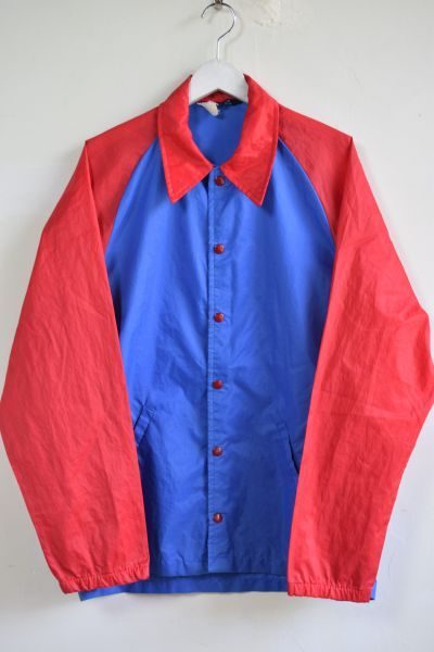 画像1: 60's Champion coach jacket [Blue/Red ] -runners tag- (1)