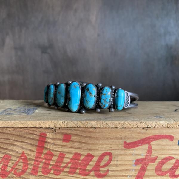 画像1: 50's Navajo turquoise bracelet (1)