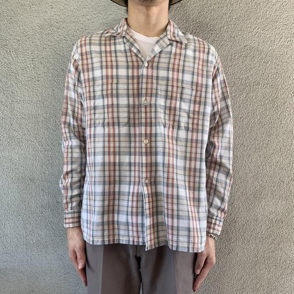 画像1: 60's Towncraft open collar shirt  (1)