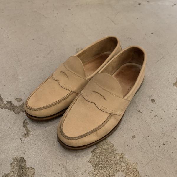 画像1: G.H.Bass nubuck penny loafer (1)