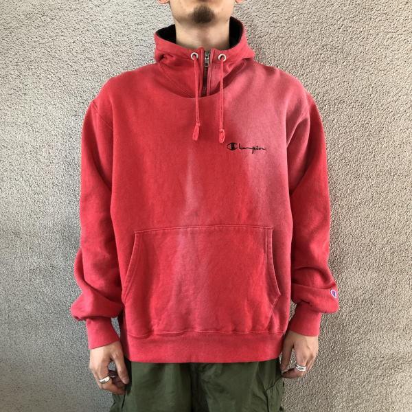 画像1: 90's Champion half zip sweat hoodie (1)