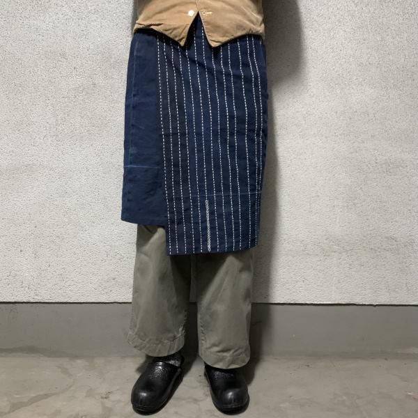 "画像1: -ichie original- wrap skirt ""藍染古布"" (1)"