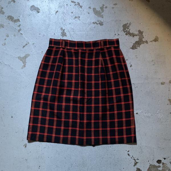 画像1: CASUAL CORNER check skirt (1)