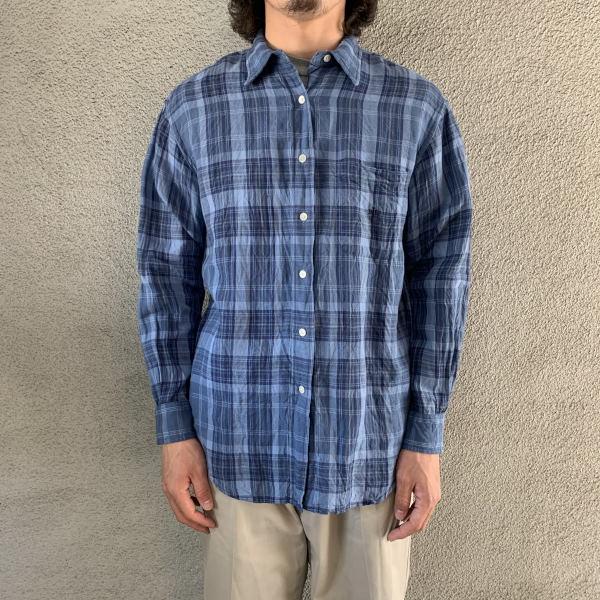 画像1: Lauren linen check shirt (1)