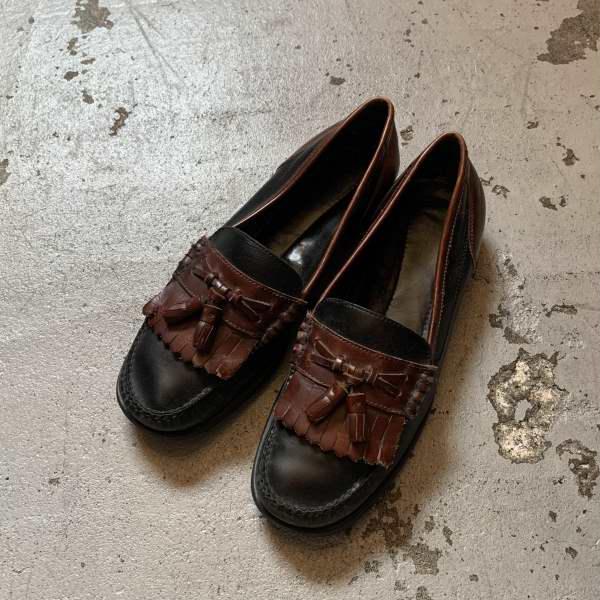 画像1: BASS kilt tassel loafers (1)
