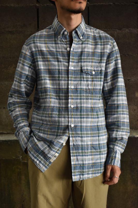 画像1: J.CREW L/S cotton linen shirt (1)