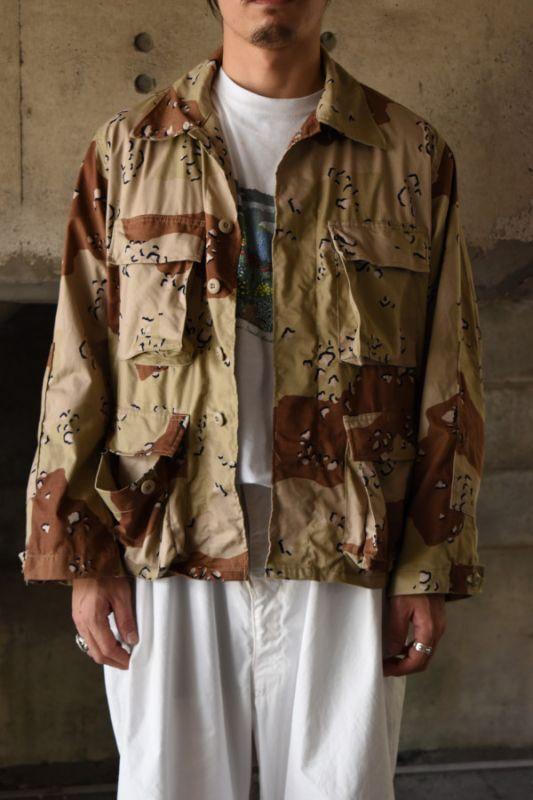 画像1: 80's US MILITARY desert camo BDU jacket (1)