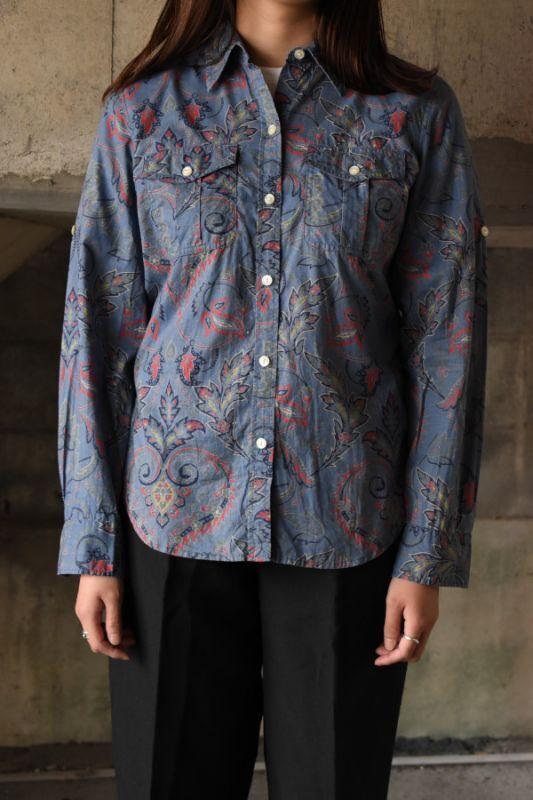 画像1: Lauren Ralph Lauren paisley shirt (1)