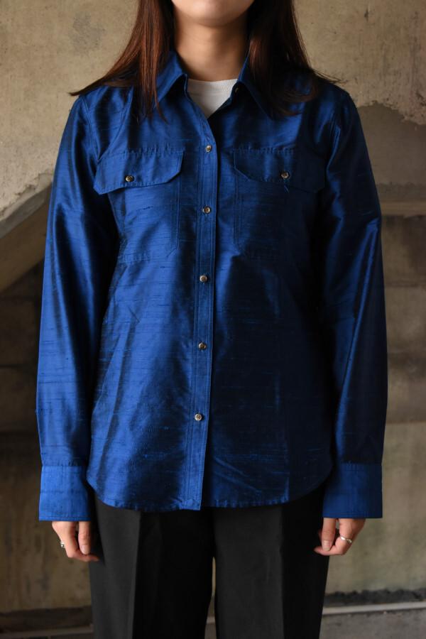 画像1: Lauren Ralph Lauren silk shirt (1)