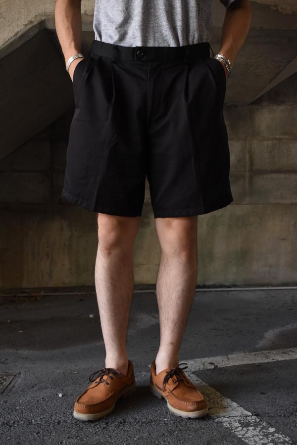 画像1: 2-tuck slacks shorts -C- (1)
