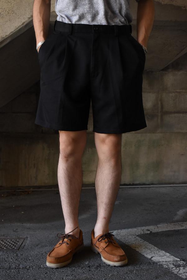 画像1: 2-tuck slacks shorts -B- (1)
