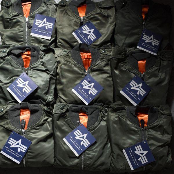 画像1: 90's-00's ALPHA L-2B flight jacket -deadstock- (1)